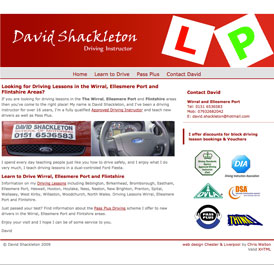 David Shackelton Driving Instructor - Design and WordPress Build