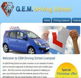 GEM Driving School - Design and WordPress Build