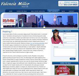 Valencier Miller - Design and WordPress Build